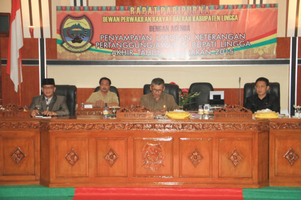 Bupati Lingga bersama Ketua dan Wakil Ketua DPRD Lingga
