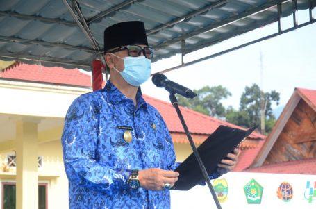 Pjs Bupati Lingga Pimpin Apel Deklarasi Gerakan Nasional ASN