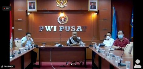 PWI Pusat dan Panitia HPN Gelar Pertemuan Secara Virtual dengan Ketua MPR RI dan Menteri Koperasi UKM, terkait Ketersedian Hadir di Acara HPN 2021