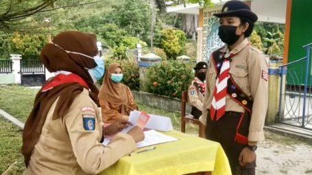 Gudep Lingga 01-031 dan 01-032 Pangkalan SMP Negeri 2 Singkep Gelar Penilaian Pramuka Garuda Penggalang