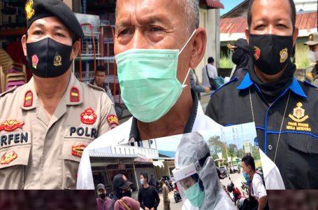 Tidak Pakai Masker, Pengendara Kendaraan Bermotor di Dabo di Swab Antigen