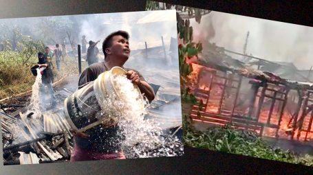 Kebakaran Dibelakang Pasar Dabo, Hanguskan 5 Rumah
