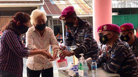 Jajaran Puslatpur Marinir 9 Dabo Singkep Ikut Sukseskan Vaksinasi
