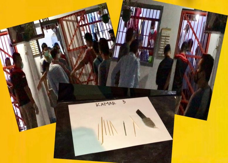 Digeledah, Ditemukan Pisau Cutter  di Kamar Warga Binaan Lapas Kelas III Dabo Singkep