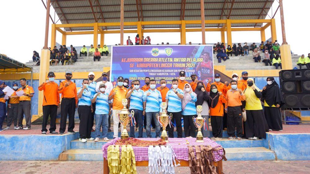 Kejurda Atletik 2021, Bupati Lingga Pertahankan Juara Umum Tingkat Provinsi