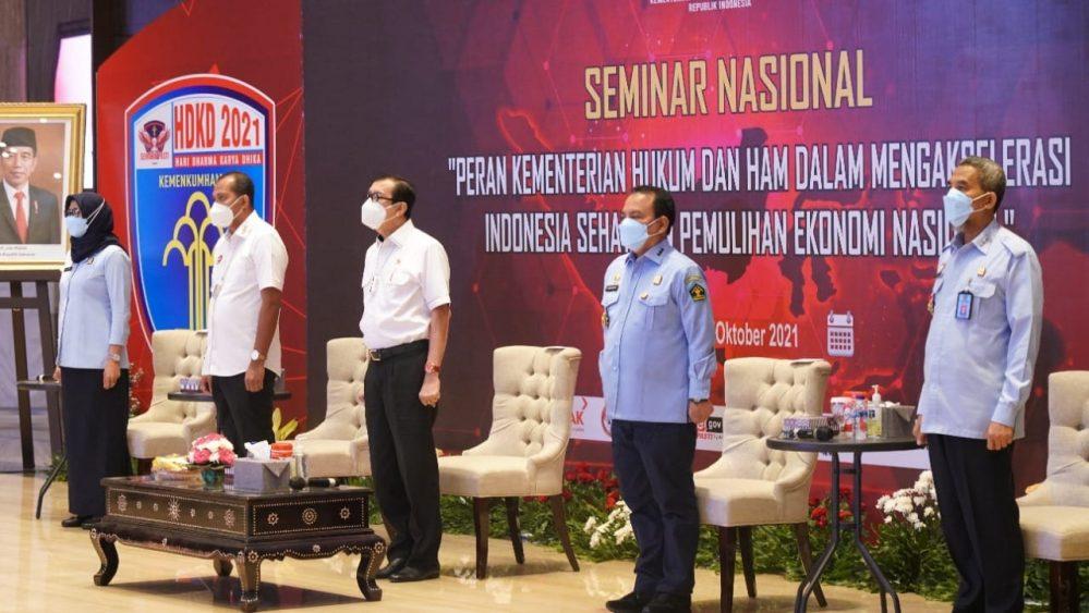 KEMENKUMHAM DUKUNG AKSELERASI INDONESIA SEHAT DAN PEMULIHAN EKONOMI NASIONAL